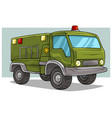 cartoon military army big cargo truck vector image