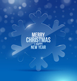 Christmas design with glass snowflake vector image