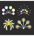Christmas fireworks on dark background vector image