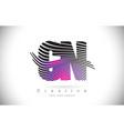 cn c n zebra texture letter logo design with vector image vector image