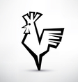 cock symbol stylized icon vector image vector image