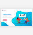 collaboration partners successful deal design vector image vector image