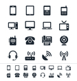 Communication device icons vector image vector image