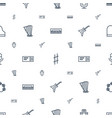 concert icons pattern seamless white background vector image vector image