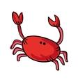 crab cartoon drawing icon vector image vector image