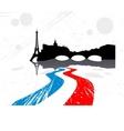 detailed silhouette city paris vector image vector image
