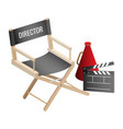 director empty chair cinema clapper and vector image