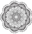 drawing of floral round lace mandala vector image vector image
