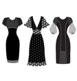 Dresses woman clothes isolated on white vector image vector image