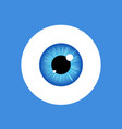 eye look icon eyeball vision blue eyesight vector image