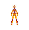 female robot space suit superhero cyborg costume vector image vector image