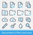 File and Directory Management Icons vector image