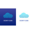 fingerprint scan logo privacy cyber security vector image vector image