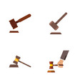 flat icon court set of tribunal justice court vector image vector image