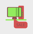 flat icon of computer sale online buying vector image vector image