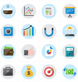 Flat Icons For Business Icons and Finance Icons vector image vector image