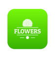 flower spring icon green vector image vector image