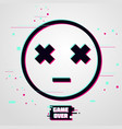 game over background emoticon with glitch vector image