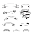 hand drawn ribbons set vector image