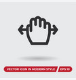 hand move icon in modern style for web site and vector image vector image