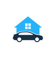 home automotive logo icon design vector image