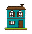 house or home two story icon image vector image vector image
