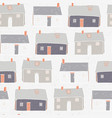 houses village xmas repeat grey background vector image