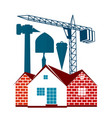 housing construction symbol for business vector image vector image