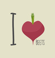 I love beets Heart of the Burgundy red beets vector image vector image