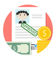 icon of approved loan or credit vector image vector image