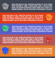 info graphics elements of garbage in isometric vector image