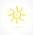 Ink sun on gray background Creative concept vector image