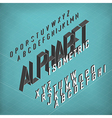 Isometric Alphabet Blueprint abstract background vector image vector image
