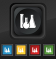 laboratory glass chemistry icon symbol Set of five vector image