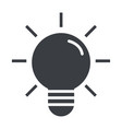 lightbulb idea cartoon vector image