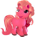 little beautiful pony vector image