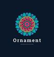 logo flower ornament infinity line art style vector image