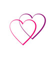 love couple line logo vector image vector image