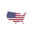 made in usa us flag map silhouette isolated on vector image vector image