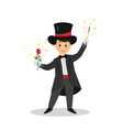 magician with hat and magic wand