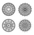 Mandala design bohemic concept vector image