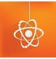 Molecule atom icon vector image vector image