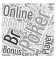 online poker room text background wordcloud vector image vector image