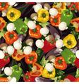 pattern of pepper eggplant and mushroom wallpaper vector image vector image