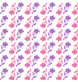 pink flower pattern on white background vector image vector image