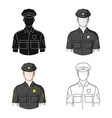 policemanprofessions single icon in cartoon style vector image