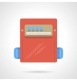 Power counter flat color icon vector image vector image