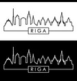 riga skyline linear style editable file vector image vector image