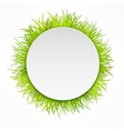 Round grass icon vector image vector image