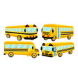school bus template isolated design set vector image vector image